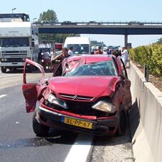 Auto ongeluk Italie
